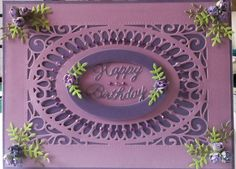 """I used part of my new Sue Wilson die for this card on an 8"""" x 6"""" base"""