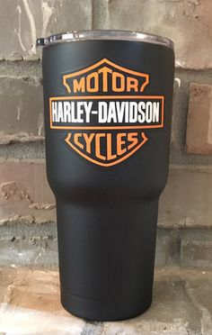 Harley Davidson  Personalized 30 oz Custom by CustomCoatedCups