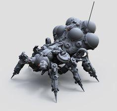 ArtStation - Mech per day: Robot nr3 AO renders, Tor Frick