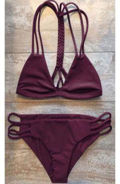 575d5817b1c850 Cute burgundy bikini! Women Bathing Suits