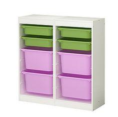 organization ~ ikea shelf frame + bins