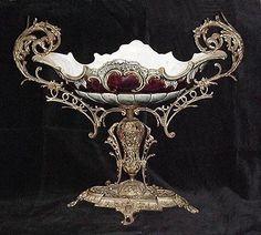 18th Century Majolica Epergne with Bronze Mounts | eBay