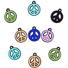 SALE! 36 Peace Sign Enamel Charms #48/9007