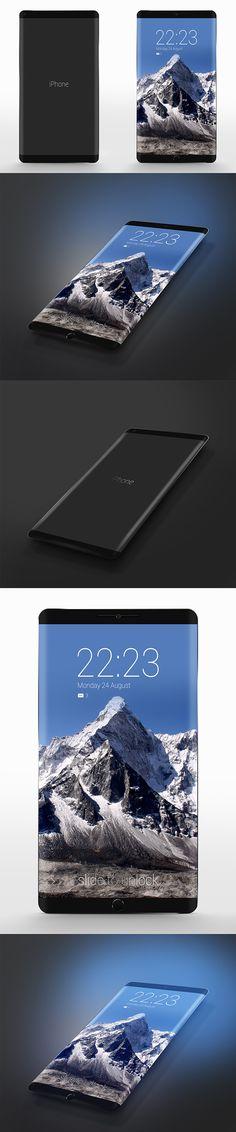 iPhone 7 Concept design- Non reflective screen- Bendy screen