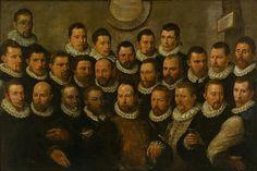 Dirck Barendsz(1534–1592) Schutters van Rot A-Guardsmen of Squad A Does, Willem van der  Date1588; 1588Mediumpaneel; olieverf