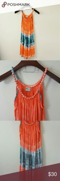 Hawaiian vacation beach dress! In excellent condition! Gorgeous beach dress with adorable neck detail! One Size fits am all, medium, and large. This is super cute with a belt, too!  Perfect as a swim coverup. Napua collection.  Bundle up! Offers always welcome:) Dresses