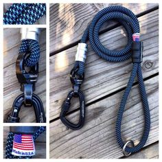Climbing Rope Dog Leash Ultimate Pacific Blue Made in USA