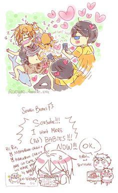 part 3 . Drawn by racyue . Makoto Tachibana, Makoharu, Anime Siblings, Splash Free, Free Iwatobi Swim Club, Fujoshi, Anime Chibi, Tofu, Haikyuu