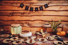 Pies for dessert. Photography: Danielle Nowak - daniellenowak.com  Read More: http://www.stylemepretty.com/mid-atlantic-weddings/2014/04/10/rustic-barn-wedding/