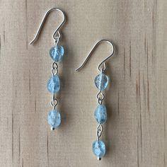 Sterling Silver Aquamarine Drop Earrings
