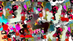 ARTFINDER: birdland2 by jill a. byrnes-duke - abstract digital contemporary modern birdland jazz flight of color  red black white blue teal pink