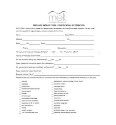 59 Best Massage Intake Forms for any Client - Printable Templates Order Form Template, Notes Template, Online Templates, Free Website Templates, Open House Invitation, Invitation Wording, Massage Intake Forms, Massage Therapy Business Cards, Doctors Note Template