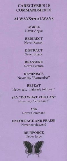 Caregivers .... follow these rules. #caregiver #caregiving #alzheimers