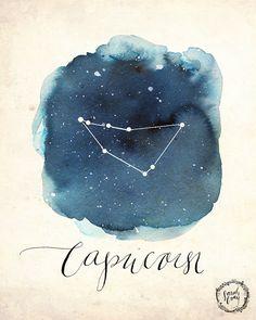 Capricorn Print par DandelionPaperCo sur Etsy
