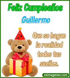 Feliz Cumpleaños Guillermo Happt Birthday, Birthday Cake Writing, Birthday Cards, Happy Birthday Celebration, Happy Birthday Images, Happy Birthday Wishes, Alcoholic Drinks With Ginger Ale, Jameson Whiskey Drinks, Whiskey And Ginger Ale