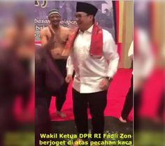 Video Viral Fadli Zon Asik Joget di Atas Pecahan Kaca Hebohkan Netizen