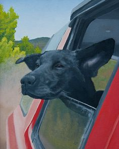Black Lab Painting PRINT by LucyandtheSheriff on Etsy, $30.00