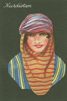 KURDISTAN _ Cigarette cards from the collection entitled Girls of many lands.    Source: NYPL Digital Archives