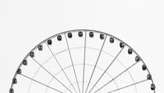 Ferris wheel, minimal, amusement and wallpaper HD photo by Siyan Ren ( on Unsplash Gray Aesthetic, Black And White Aesthetic, Fotografia High Key, High Key Fotografie, High Key Photography, Product Photography, Minimal Photography, Vintage Photography, Becoming Minimalist
