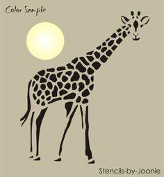 Safari-Animal-STENCIL-9-tall-Spotted-Giraffe-South-Africa-Rustic-Cabin-Art-Sign