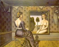 Mirror, 1939. Paul Delvaux