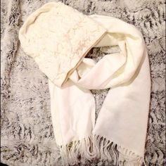 Hat and scarf set Super soft cream colored knit beanie hat and scarf from Nordstrom. Cozy combo in excellent condition. Only worn a couple of times! Nordstrom Accessories Scarves & Wraps