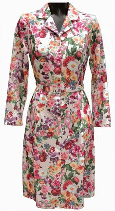 eb3508f6f6895 ... elderly ladies by Rival Clothing. Long sleeve dress by Rival . Floral  pattern. Short fit 2217