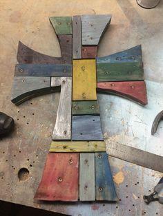 Repurposed wood cross I made