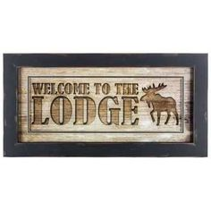 Welcome to the Lodge Framed Wall Art