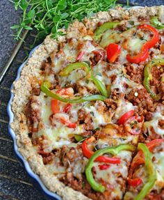 Asian Recipes, Healthy Recipes, Healthy Food, Pesto, Everyday Food, Pizza Recipes, Vegetable Pizza, Quiche, Frisk