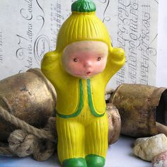 little boy c 1950  vintage toy doll  pretend play   by CoolVintage, $31.50