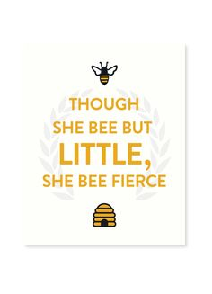Seltzer Bee Fierce Art Print