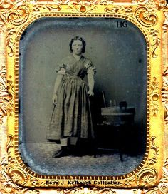 "Occupational Tintype believed to be a ""Washer-woman"" circa mid-19th cent."