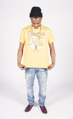 Vintage Bugatchi Uomo Yellow Silk Print Shirt 95TGYiAgt8
