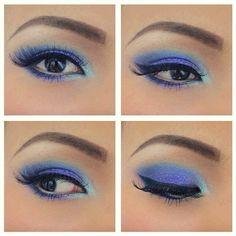 Beautiful blue eyes- make up