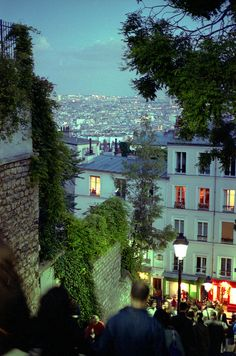 Monmartre at dusk | by boklm | via parisbeautiful