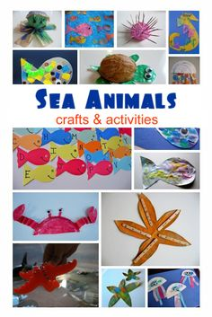Sea Animals Crafts & Activities to accompany preschool ocean theme. Repinned by Columbus Speech & Hearing Center. For more ideas like this visit www.pinterest.com/ColumbusSpeech