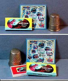 Dollhouse-Miniature-1-12-NANCY-DREW-MYSTERY-GAME-1957-retro-girl-game-toy