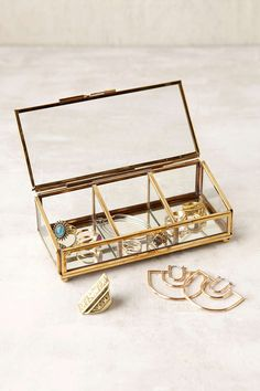 Shop Keepsake Glass Display Box at Urban Outfitters today. We carry all the latest styles, colors and brands for you to choose from right here. Glass Display Box, Glass Boxes, Display Boxes, Jewellery Storage, Jewelry Organization, Jewellery Display, Jewellery Box, Closet Organization, Jewlery