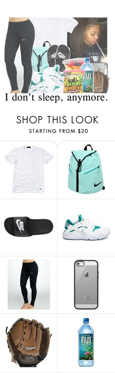 """Practice/Nike Tights Contest"" by brianna-pina ❤ liked on Polyvore featuring Polo Ralph Lauren, NIKE, Belkin and Rawlings"