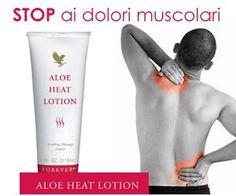 ALOE HEAT LOTION CREMA SCALDANTE ALL'ALOE Art. 64 CC 0.060 Muscoli indolenziti e stanchi? Per alleviare questa fastidiosa sensazione, per gli strappi muscolari e lo stress quotidiano, massaggia la parte interessata con Aloe Heat Lotion. La sua sensazione riscaldante e calmante rilassa e allevia le fasce muscolari. Contenuto: 118 ml.