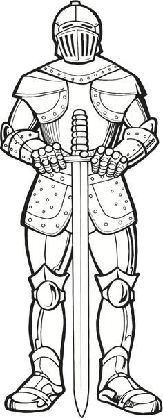 knights coloring pages inspire kids - Knight Coloring Pages