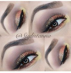 Eye Kandy's glitter in Peach Fizz and Sugar Cane.