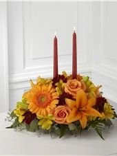 The FTD® Bright Autumn™ Centerpiece by Frank Gallo Florist Halloween Floral Arrangements, Fall Flower Arrangements, Floral Centerpieces, Centrepieces, Centerpiece Ideas, Thanksgiving Flowers, Thanksgiving Centerpieces, Thanksgiving Table, Thanksgiving Crafts