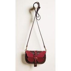 Anya Hindmarch Vere Mini Chain Satchel ($750) ❤ liked on Polyvore featuring bags, handbags, white handbag, leather satchel handbags, mini satchel handbags, white satchel handbags and leather purses