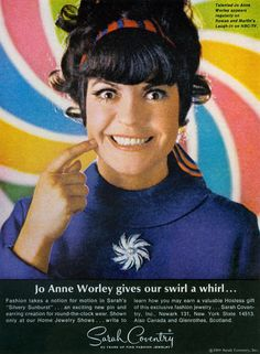 Jo Anne Worley for Sarah Coventry Jewelry, 1969