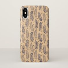 Ethnic Feather Outline Pattern iPhone X Case - beauty gifts stylish beautiful cool