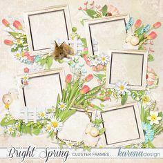 Bright Spring Cluster Frames by karena design Bright Spring, Spring Collection, Frames, Design, Home Decor, Products, Homemade Home Decor, Frame, Design Comics
