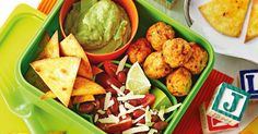 This Mexican-style bento box is perfect for preschool lunchboxes.