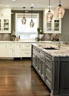 Diy Ideas For Kitchen Cabinet Doors and Pics of Full Kitchen Cabinets. #cabinets #kitchenisland